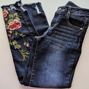 Arizona girls embroidered jeans, size 14